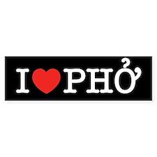 I Love (Heart) Pho Bumper Bumper Sticker