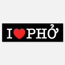 I Love (Heart) Pho Sticker (Bumper)