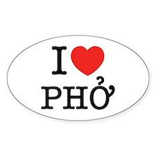 I Love (Heart) Pho Decal