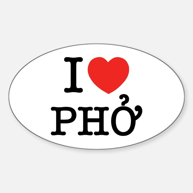 I Love (Heart) Pho Decal