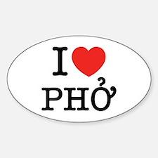 I Love (Heart) Pho Sticker (Oval)