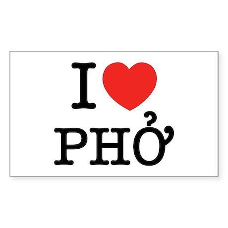 I Love (Heart) Pho Sticker (Rectangle)