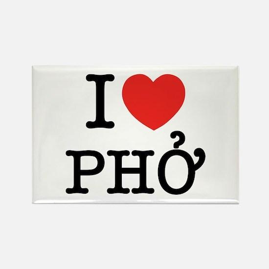 I Love (Heart) Pho Rectangle Magnet