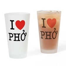 I Love (Heart) Pho Drinking Glass
