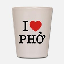 I Love (Heart) Pho Shot Glass