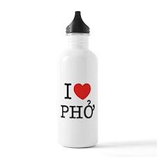 I Love (Heart) Pho Water Bottle