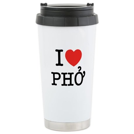 I Love (Heart) Pho Stainless Steel Travel Mug