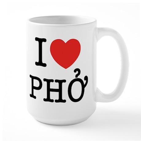 I Love (Heart) Pho Large Mug