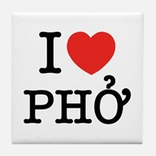 I Love (Heart) Pho Tile Coaster