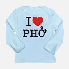 I Love (Heart) Pho Long Sleeve Infant T-Shirt