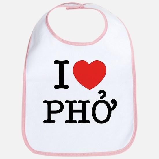 I Love (Heart) Pho Bib