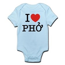 I Love (Heart) Pho Infant Bodysuit