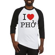 I Love (Heart) Pho Baseball Jersey
