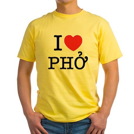 I Love (Heart) Pho Yellow T-Shirt