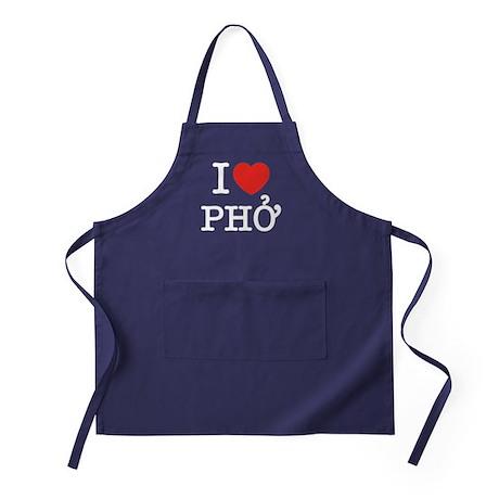 I Love (Heart) Pho Apron (dark)