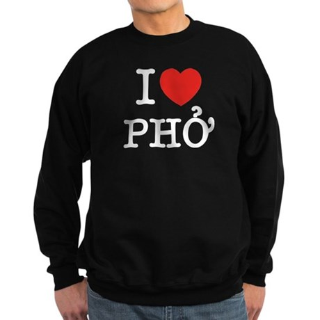 I Love (Heart) Pho Sweatshirt (dark)