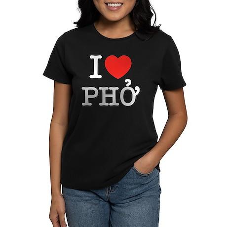 I Love (Heart) Pho Women's Dark T-Shirt