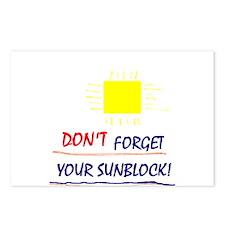 Sunblock Reminder Postcards (Package of 8)