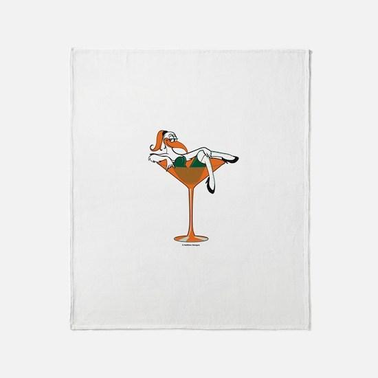 Miami-tini Throw Blanket