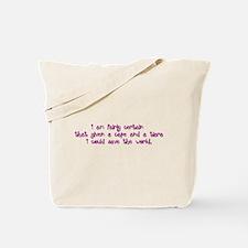 Pink Tiara and Cape Tote Bag