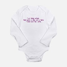 Pink Tiara and Cape Long Sleeve Infant Bodysuit