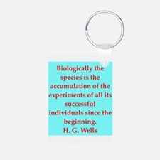 H. G. Wells quotes Keychains