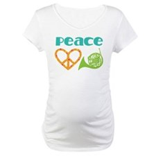 French Horn Peace Love Shirt