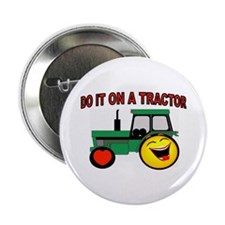 """TRACTOR ROCKIN 2.25"""" Button (10 pack)"""