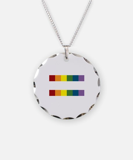 Gay Rights Equal Sign Necklace