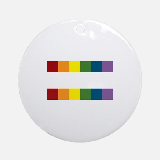Gay Rights Equal Sign Ornament (Round)