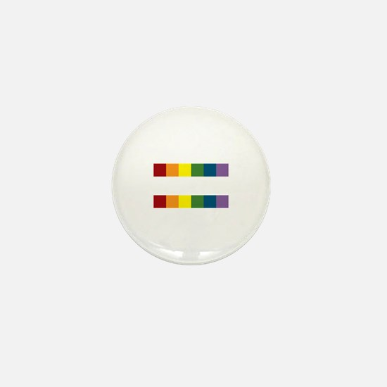 Gay Rights Equal Sign Mini Button (100 pack)