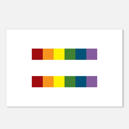 Gay Rights Equal Sign Postcards (Package of 8)