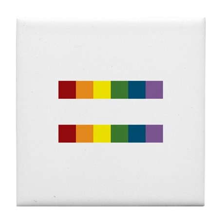 Gay Rights Equal Sign Tile Coaster