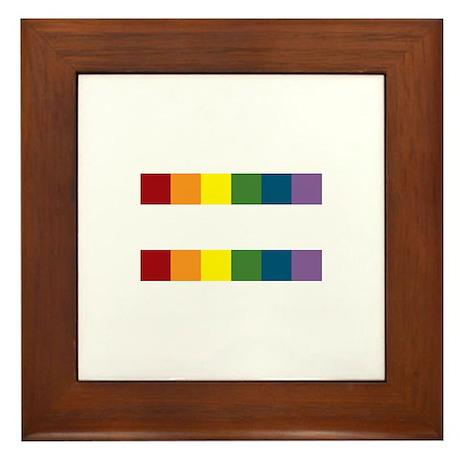 Gay Rights Equal Sign Framed Tile