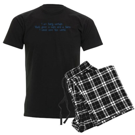 Blue Tiara and Cape Men's Dark Pajamas