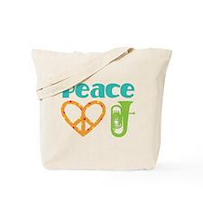 Peace Love Tuba Music Tote Bag