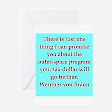 wernher von braun quotes Greeting Card