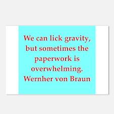 wernher von braun quotes Postcards (Package of 8)