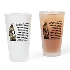 Soul Food Menu Drinking Glass