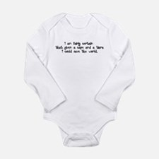 Black Tiara and Cape Long Sleeve Infant Bodysuit
