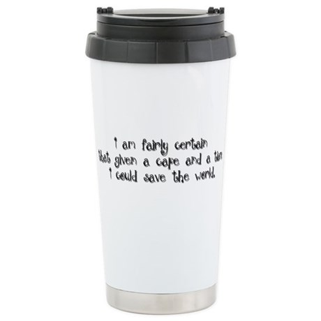 Black Tiara and Cape Stainless Steel Travel Mug