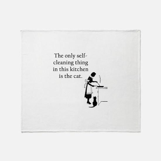 Kitchen Cat Throw Blanket