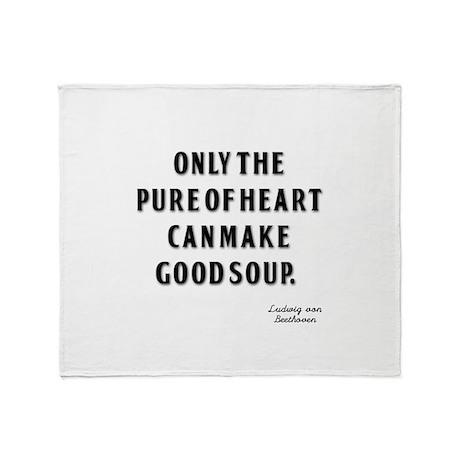 Good Soup Throw Blanket