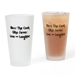 Bless The Cook Drinking Glass