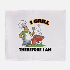 I Grill Throw Blanket
