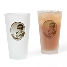 Child Saying Grace Drinking Glass