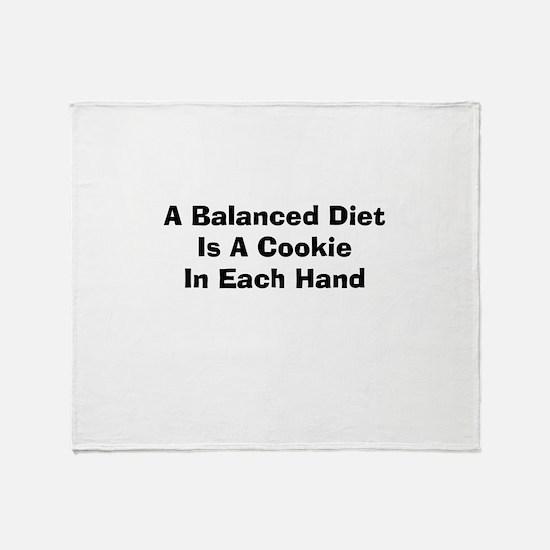 Balanced Diet Throw Blanket