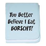 Borscht baby blanket