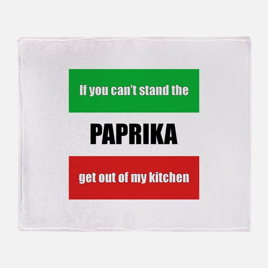 Paprika Lover Throw Blanket
