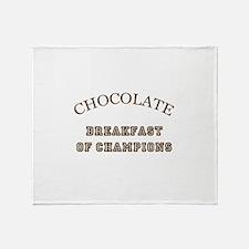 Breakfast Champions Chocolate Throw Blanket